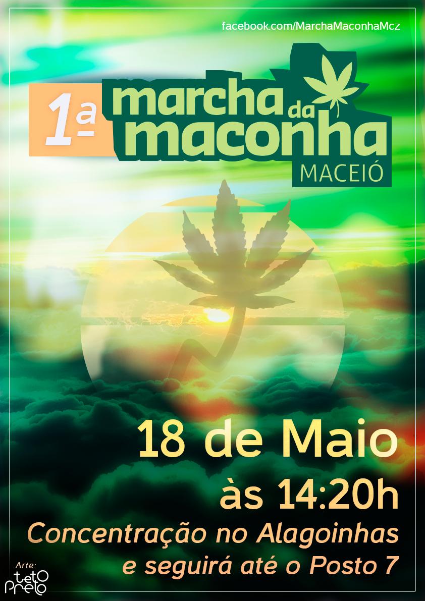 Flyer MARCHA DA MACONHA MACEIÓ - ALAGOAS