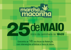 Banner da Marcha da Maconha Porto Alegre