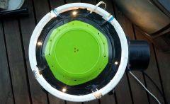 marijuana space bucket view from above