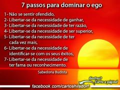 budismo.7 conselhos ao Ego