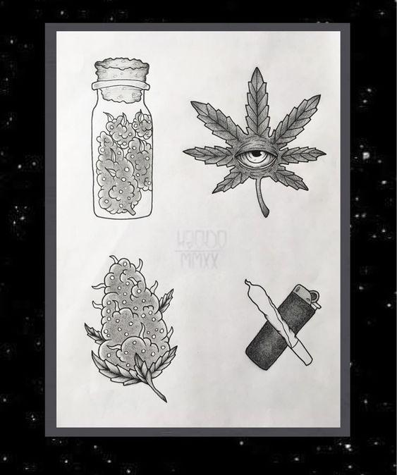 tatuagem de baseado de maconha