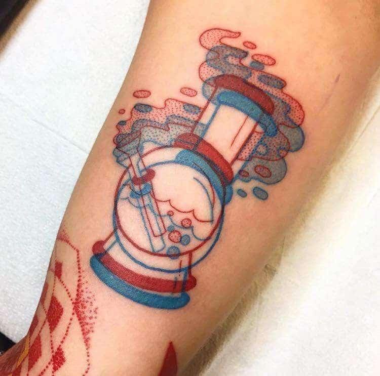 tatuagem de bong de maconha