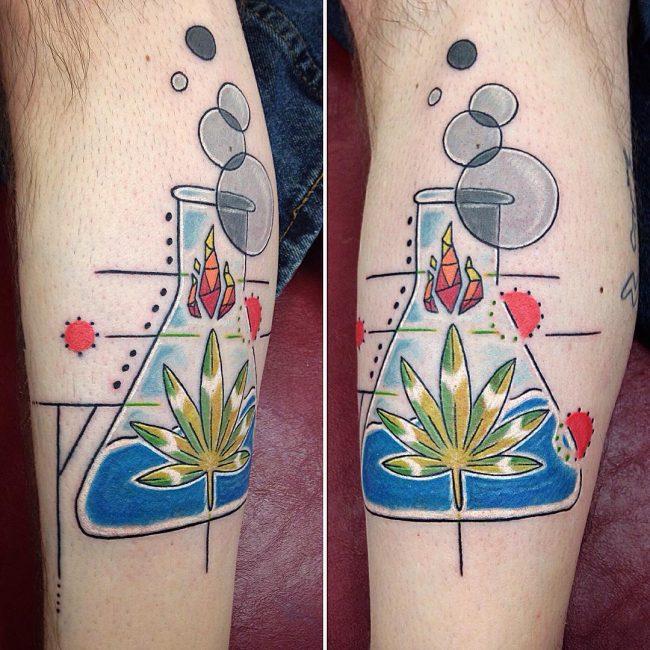 tatuagem de maconha