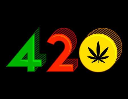 símbolo 420 da maconha